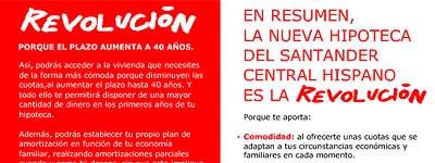 Revolución en el Santander