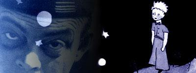 Le Petit Prince mirando las estrellas