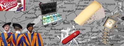 Suiza, vacas, chocolate y billetes
